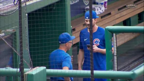 Watch the emotional moment Kris Bryant learns he was traded to the San Francisco Giants