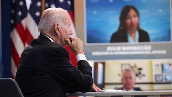 Biden says climate change is worsening wildfires in virtual meeting with West Coast governors
