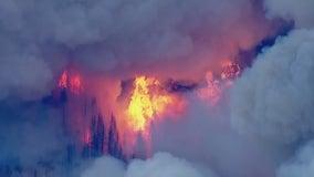 Caldor Fire: Wall of flames races through Northern California