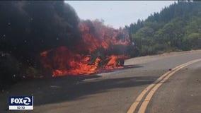 Brush fire on Mt. Tam triggers aggressive response