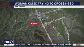 Pedestrian killed crossing I-680 in San Ramon