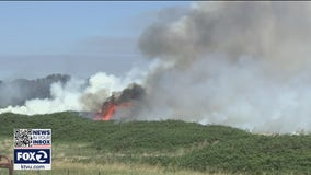 Fire on Bradford Island continues to burn with little resistance from firefighters