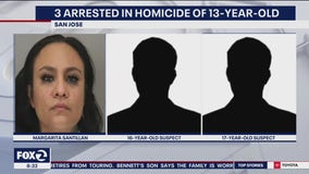 3 arrested in shooting death of 13-year-old boy in San Jose