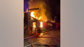 Historic Lucia Lodge in Big Sur burns in late night fire