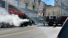 San Francisco police pick-up truck set on fire in Tenderloin District