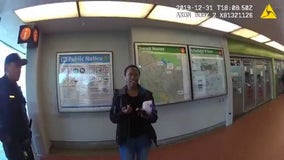 BART police bloodied woman who skipped $3.60 fare, video shows