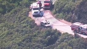 Vehicle fire spreads to vegetation near Mount Tamalpais East Peak
