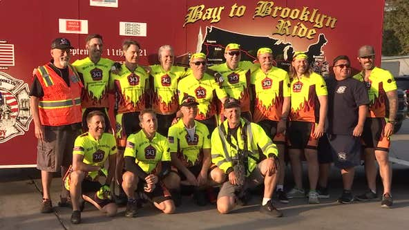 """Bay Area cyclists embark on """"Bay to Brooklyn"""" journey for 20-year anniversary of Sept. 11 attacks"""