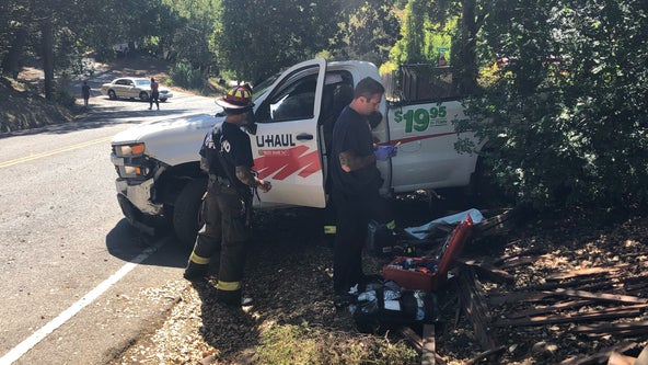 U-Haul truck driver crashes into hydrant, damages fence in Oakland