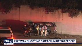 CHP probes Daly City freeway shooting; 6 people injured