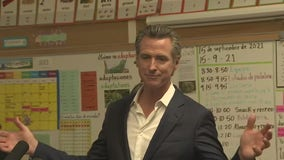 Fresh off win, Newsom addresses in-person learning at East Bay school
