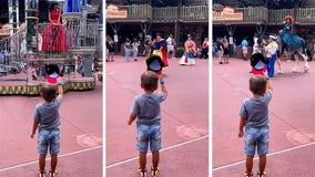 'True gentleman': 4-year-old tips his hat to Disney princesses during parade