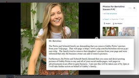 After 'cease and desist' letter, Gabby Petito photo removed from 'unclaimed' Yelp page for Laundrie's attorney