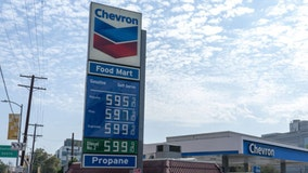 Average price of gas up by a penny per gallon to $3.25; Bay Area average $4.47