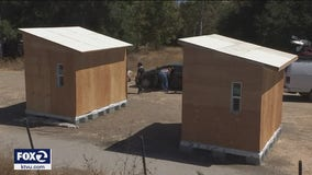 Volunteers building unpermitted tiny homes for San Jose's homeless