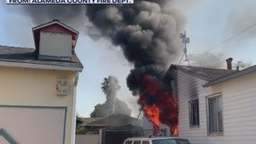 New fire breaks out at San Leandro home where ammunition exploded