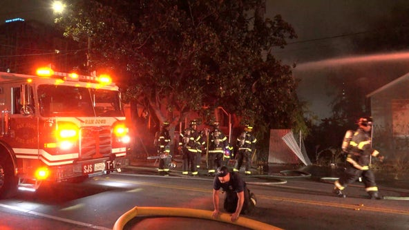 Crews extinguish house fire in downtown San Jose