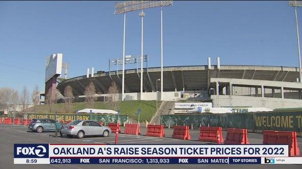 Despite dramatic drop in attendance, Oakland A's raise season ticket prices for 2022