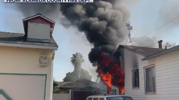 San Leandro homeowner runs outside without clothes as ammunition explodes during fire