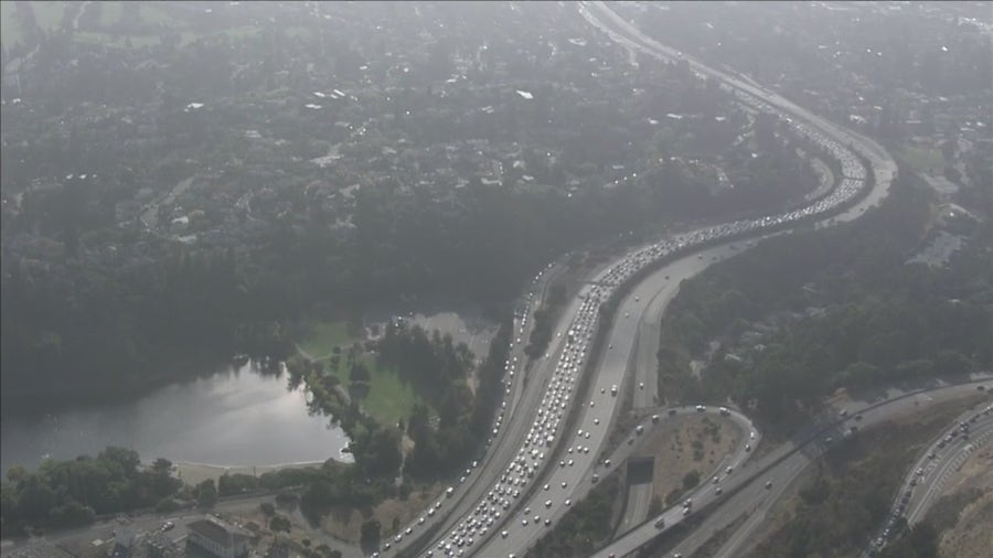 Incident between two vehicles inside Caldecott Tunnel causes traffic backup