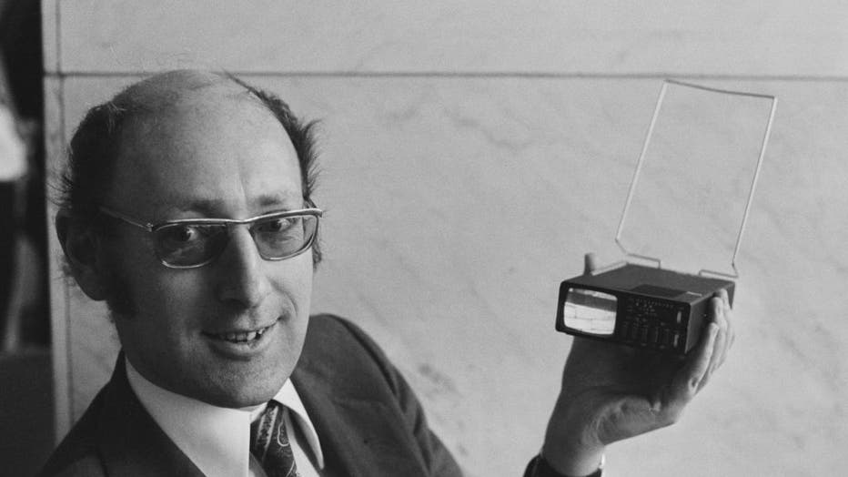 Sir Clive Sinclair Displays Sinclair MTV1 Microvision