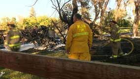 4 hospitalized with burns following Sacramento County plane crash