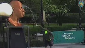 George Floyd statue vandalized in Union Square