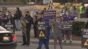 Health care workers strike in Antioch over short staffing, labor