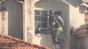 Brentwood home fire prompts evacuations