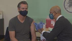 California governor gets booster shot of Moderna vaccine