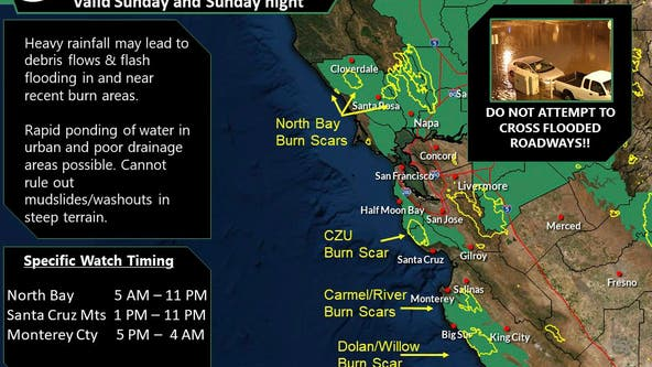 National Weather Service issues several weather advisories for Bay Area