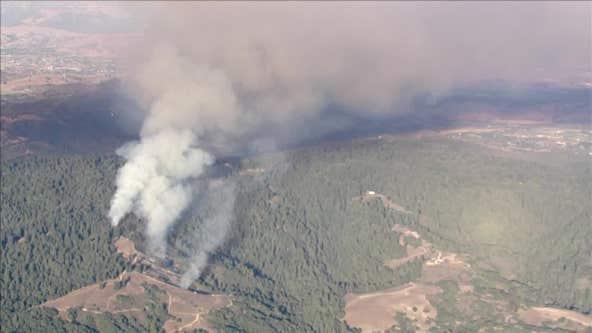 Santa Cruz County: Estrada Fire, sparked by prescribed burn, estimated to be 83 acres