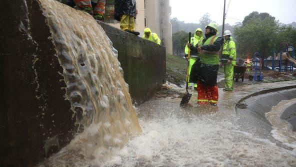 Heading south: Massive California storm dumps rain, causes floods, topples trees