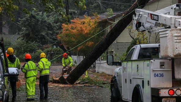 PG&E restores power to all but 1,100 customers after weekend storm
