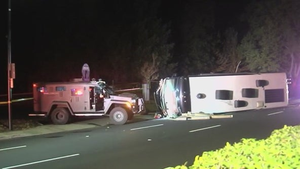 Stolen camper crashes in front of San Ramon City Hall