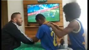 Watch how these friends help deaf-blind Brazil fan experience World Cup goal