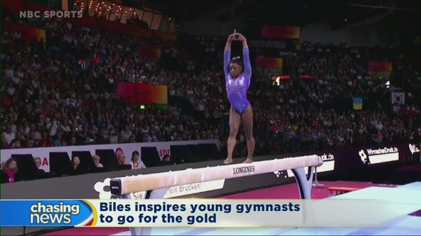 Simone Biles' achievements inspire local gymnasts