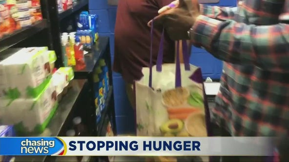 Queens school opens food pantry