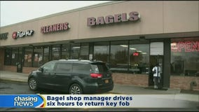 Bagel shop manager drives six hours to return key fob