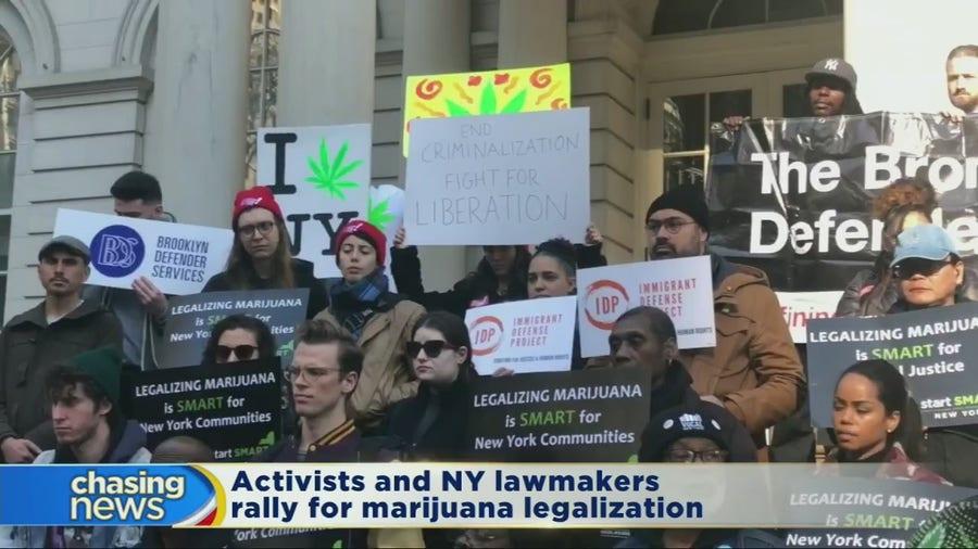 Activists rally for marijuana legalization at City Hall