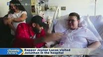 Rapper Joyner Lucas visits Staten Island teen in hospital
