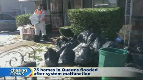 Queens residents struggle to clean up after sewage backup