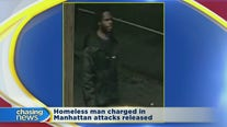 Homeless man charged in Manhattan attacks released