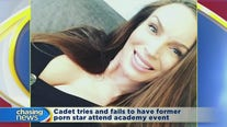 Cadet tries and fails to have former porn star attend academy event