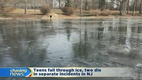 Two teens dead after falling through ice in separate incidents