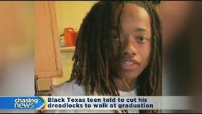 Texas teen told to cut his dreadlocks to walk at graduation