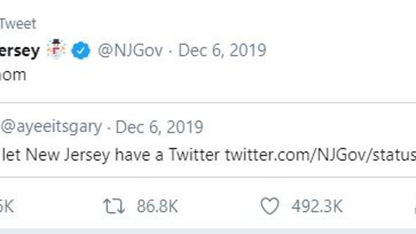 New Jersey's official Twitter account gains over 100K followers amid sassy tweets, Baby Yoda avatar