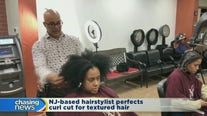 Stylist perfects curl cut for textured hair