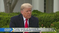 Trump warns of increase in suicide if shutdown continues