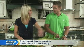 Staying at home creates more time for intimacy